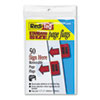 """Removable/Reusable Page Flags, """"Sign Here"""", Red, 50/Pack"""