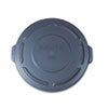 """Flat Top Lid for 20-Gallon Round Brute Containers, 19 7/8"""" dia., Gray"""
