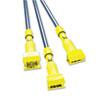 Fiberglass Gripper Mop Handle, Yellow/Gray