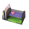 Safco(R) Onyx(TM) Mesh Desk Organizer with Two Vertical/Two Horizontal Sections