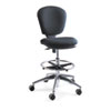 """Metro Collection Extended Height Swivel/Tilt Chair, 22-33"""" Seat Height, Black"""