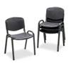 Stacking Chairs, Black w/Black Frame, 4/Carton