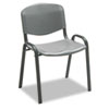 Stacking Chairs, Charcoal w/Black Frame, 4/Carton