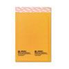 Jiffylite Self-Seal Mailer, Side Seam, #0, 6 x 10, Golden Brown, 10/PK
