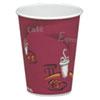 Bistro Design Hot Drink Cups, Paper, 8oz, Maroon, 50/Bag, 20 Bags/Carton