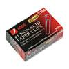 Nonskid Premium Paper Clips, Wire, No. 1, Silver, 100/Box, 10 Boxes/Pack