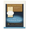 Parchment Specialty Paper, Ivory, 24 lbs., 8-1/2 x 11, 100/Box