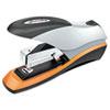 Optima Desktop Staplers, Half Strip, 70-Sheet Capacity, Silver/Black/Orange