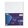 Quadrille Pads, 6 Squares/Inch, 8 1/2 x 11, White, 50 Sheets