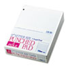 Three-Hole Punched Pad, Narrow Rule, 8-1/2 x 11, White, 50-Sheet Pads/Pack, Dz.