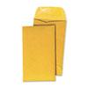 Kraft Coin Envelope, #3, Round Flap, Gummed Closure, 2.5 x 4.25, Light Brown Kraft, 500/Box