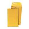 Kraft Coin Envelope, #7, Round Flap, Gummed Closure, 3.5 x 6.5, Light Brown Kraft, 500/Box