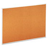 Bulletin Board, Natural Cork, 48 x 36, Satin-Finished Aluminum Frame