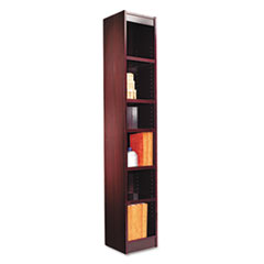 Alera(R) Narrow Profile Bookcase With Finished Back