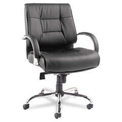 Alera(R) Ravino Big and Tall Series Mid-Back Swivel/Tilt Leather Chair