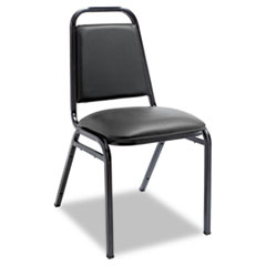 Alera(R) Padded Steel Stacking Chair