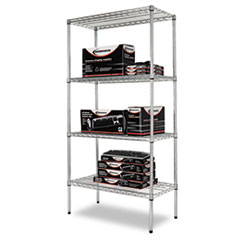 Alera(R) Industrial Heavy-Duty Wire Shelving Starter Kit
