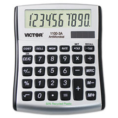 1100-3A Antimicrobial Compact Desktop Calculator, 9-Digit LCD