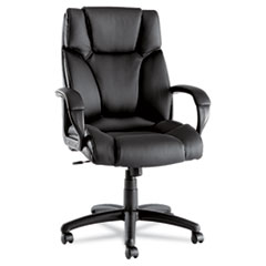 Alera(R) Fraze Executive High-Back Swivel/Tilt Leather Chair