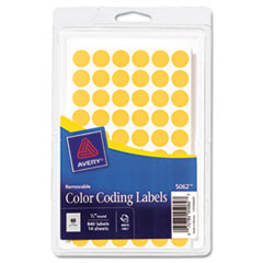 Avery(R) Handwrite Only Self-Adhesive Removable Round Color-Coding Labels