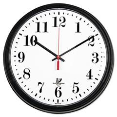 """Black Quartz Contract Clock, 13-3/4"""", Black"""