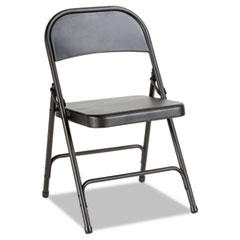Alera(R) Steel Folding Chair with Two-Brace Support
