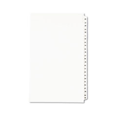 Avery(R) Preprinted Legal Exhibit Index Tab Dividers with Black and White Tabs