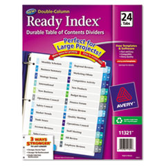 Avery(R) Ready Index(R) Customizable Table of Contents Double Column Dividers