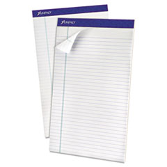 Recycled Writing Pads, Legal, White, Perfed, 50 Sheets, Dozen