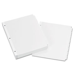 Avery(R) Write-On Plain-Tab Paper Dividers