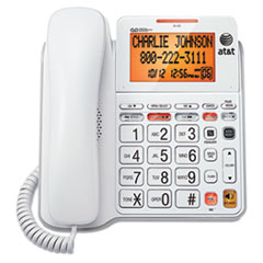 AT&T(R) CL4940 Corded Speakerphone with Digital Answering System