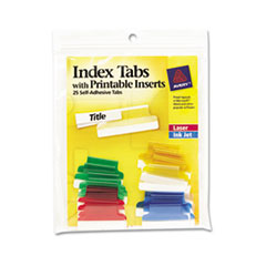 Avery(R) Insertable Index Tabs with Printable Inserts