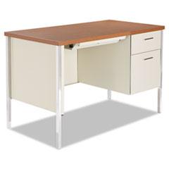 Alera(R) Single Pedestal Steel Desk