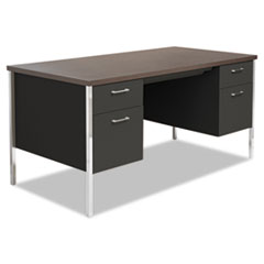 Alera(R) Double Pedestal Steel Desk
