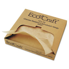 Bagcraft EcoCraft(R) Grease-Resistant Paper Wrap & Liner