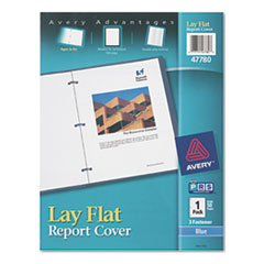 Avery(R) Lay Flat View Report Cover with Flexible Fastener