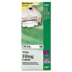 Avery(R) Mini-Sheets(R) Permanent File Folder Labels