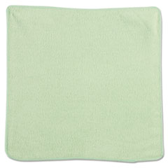 Microfiber Cleaning Cloths, 12 x 12, Green, 24/PK