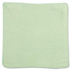 Microfiber Cleaning Cloths, 12 x 12, Green, 24/PK
