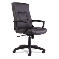 Alera(R) YR Series Executive High-Back Swivel/Tilt Leather Chair