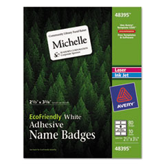 Avery(R) EcoFriendly Adhesive Name Badge Labels