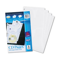 Avery(R) CD Organizer Sheets for Three-Ring Binders