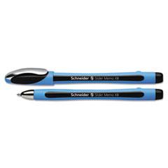 Slider Memo Ballpoint Pens, Stick, 1.4 mm, ExtraBold, Black, 10/Box