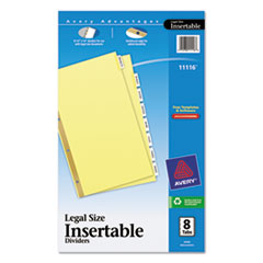 Avery(R) Insertable Standard Tab Dividers