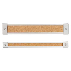 Map Rail, Heavy-Gauge Anodized Aluminum, Natural Cork Insert, 1 x 96