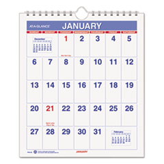 AT-A-GLANCE(R) Mini Monthly Wall Calendar