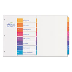 Avery(R) 11� x 17� Ready Index(R) Customizable Table of Contents Multicolor Tabs