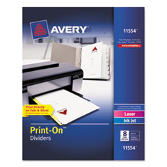 Avery(R) Customizable Print-On(TM) Dividers