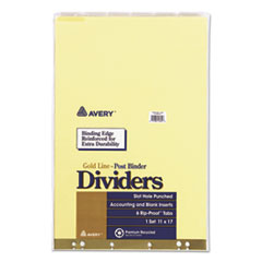 "Avery(R) Insertable 11"" x 17"" Clear Tab Dividers for Data Binders"