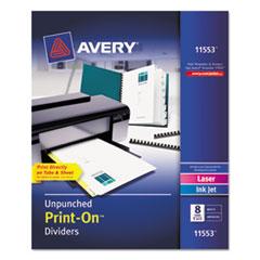 Avery(R) Customizable Print-On(TM) Dividers